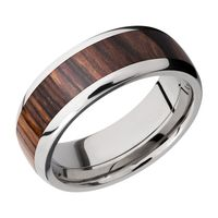 Titanium and Natcoco Hardwood Band by Lashbrook Designs