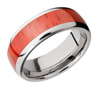 Titanium and Padauk Hardwood Band by Lashbrook Designs