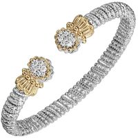 14k Yellow Gold & Sterling Silver, Diamond Multi Pave Bangle by Alwand Vahan