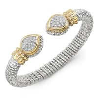 Vahan Diamond Pave Pear Shape Ends Bracelet