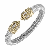 Vahan Sterling Silver, 14K Yellow Gold and Diamond Bracelet