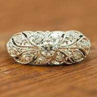 Vintage Transitional Cut Diamond Ring