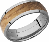 Whiskey Barrel Hardwood and Cobalt Chrome Band