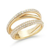 14kt Yellow Gold and Diamond Galaxy Band