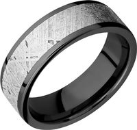 Zirconium and Gibeon Meteorite Band by Lashbrook Designs