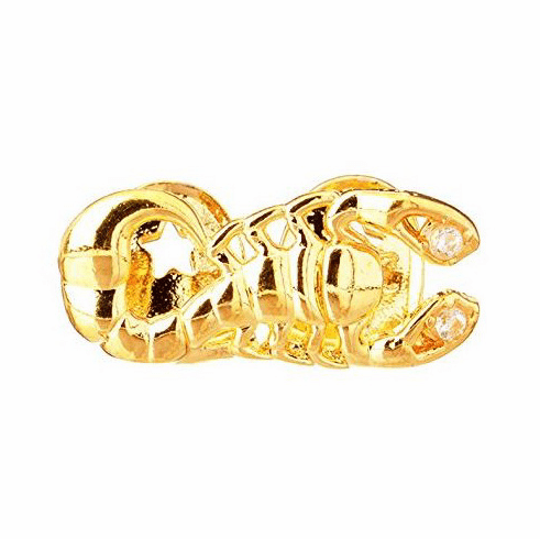 Gold Double Cap Tooth Grillz Scorpion CLEARANCE