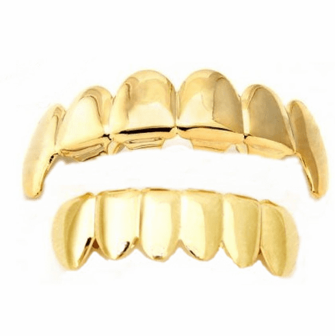 Gold Fang Mouth Grillz