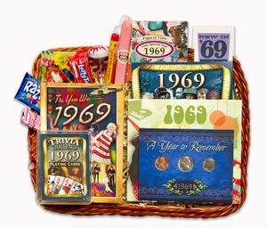 1969 Gift Basket with Coins for a 50th Gift