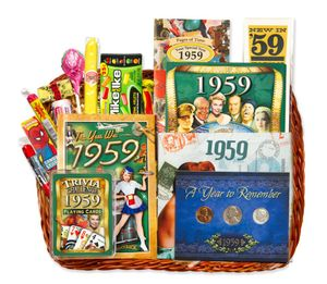60th Gift Basket for 1959 with Coins