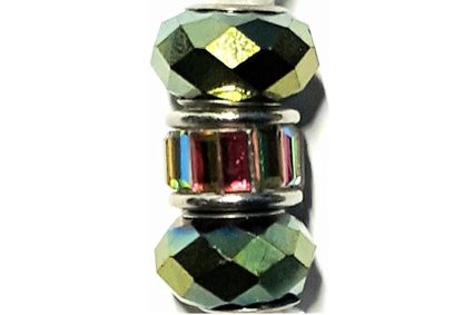 Green Facet Crystal Loc Jewel
