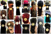 African Brass Large Disc Ponytail Holders Unisex