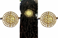 African Brass Mandala Unisex Ponytail Holders