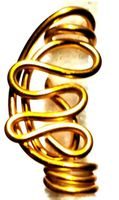 Rich Gold Freestyle Wire Loc Jewelry