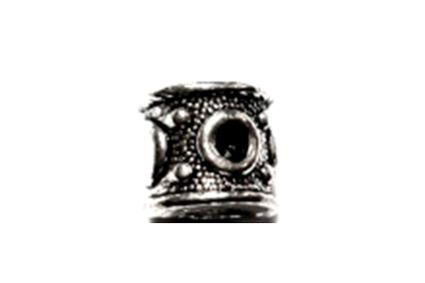 Black Hole Silver Metal Hair Bead