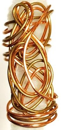 Copper Gold Hair Sculpture One
