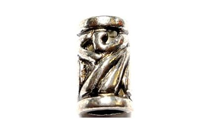 Art Deco Silver Hair Bead