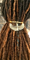 Egyptian Goddess Ma'at Gold Metal Ponytail Holder Natural Hairstyles