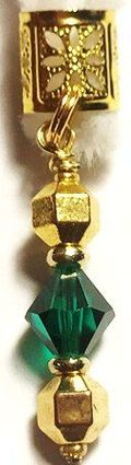Emerald Diamond Crystal Hair Jewel
