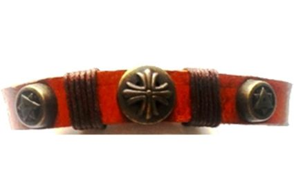 Leather Fleur Star of David Loc Ponytail Holder