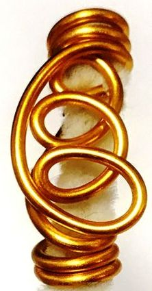 Gold Freestyle Wire Hair Jewelry 5
