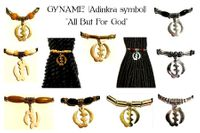 Gyname' Adinkra Ponytail Holders