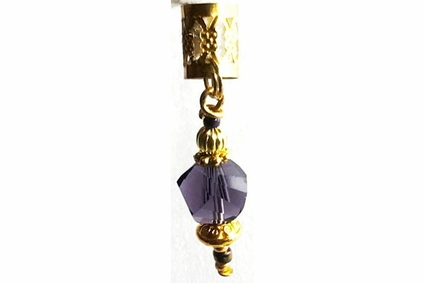 Purple Peacock Colors Hair Jewels Charms