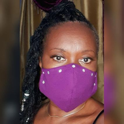 Purple Bling Face Mask Style 1