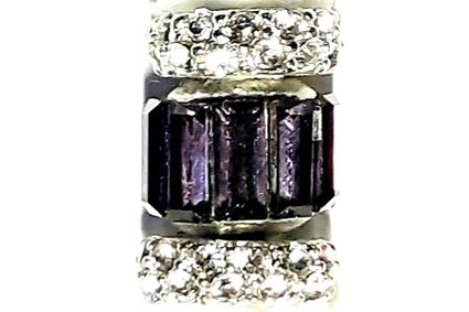 Purple Crystal Bullion Loc Jewel
