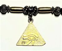 Pyramid Ponytail Holder Antique Gold