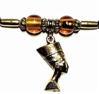 Queen Nefertiti Ponytail Holders Silver Gold