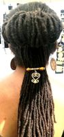 Sankofa Brass Ponytail Holder Style Three