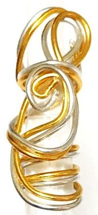 Silver Gold Wire Loc Jewelry Thin One