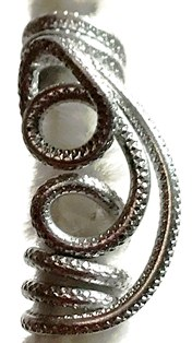 Silver Braid Rope Wire Jewel Style 1