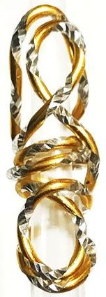 Gold Silver Fleck Wire Hair Jewelry