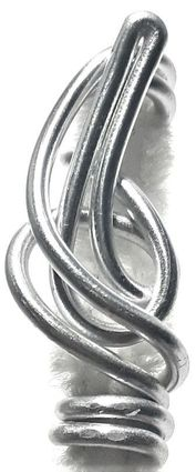 Silver Wire Hair Jewelry Freestyle Art
