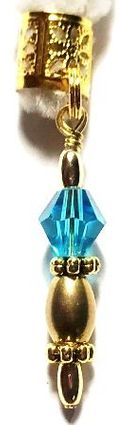 Turquoise Diamond Crystal Royal Scepter