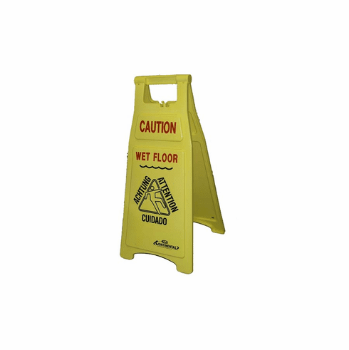 A-Frame Yellow Wet Floor Sign