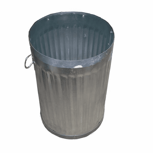 Metal Garbage Can Double Band 20 Gal. NO Cover