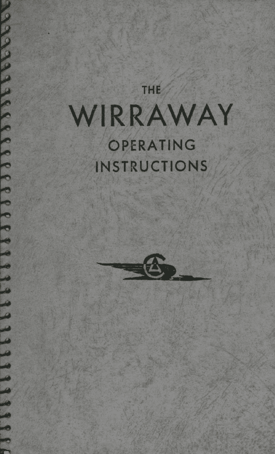 Commonwealth Wirraway Operating Instructions