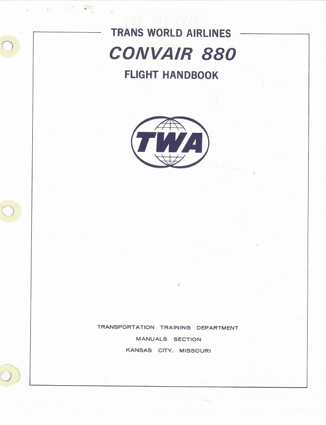 Convair CV-880 Operating Manual TWA