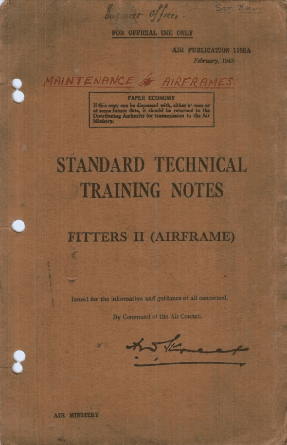 Fitters II (Airframe ) Standard Technical Training Notes RAF