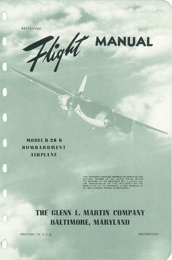 Martin B-26B Marauder Flight Manual