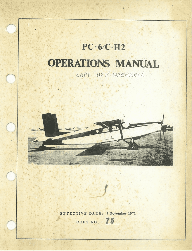 Pilatus PC-6/C-H2 Operating Manual Air America