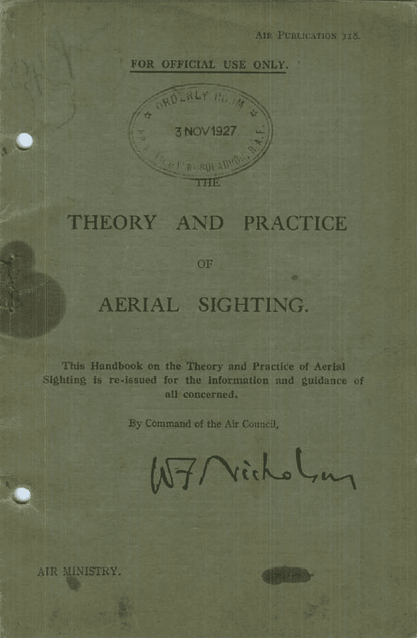 The Theory & Practice Of Aerial Sighting RAF