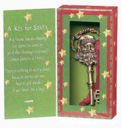 A Magic Key for Santa Claus Ornament