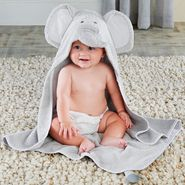 Baby Aspen Little Peanut Elephant Hooded Spa Towel