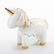 Baby Aspen Unicorn Ceramic Bank