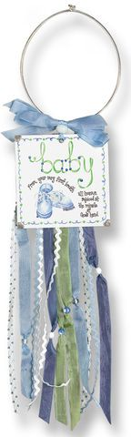 Brownlow Baby Boy Doorknob Blessing Card Holder