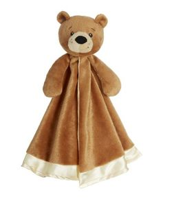 Baby Ganz Bear Cuddler Blankie Snuggler - Brown 13""