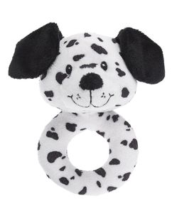 Baby Ganz Dalmatian Dog Plush Ring Rattle